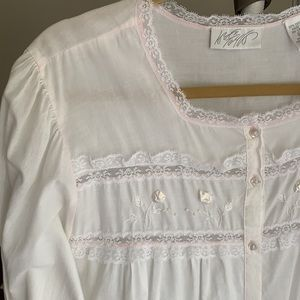 Lord & Taylor | Vintage Cotton Lace Nightgown 1X